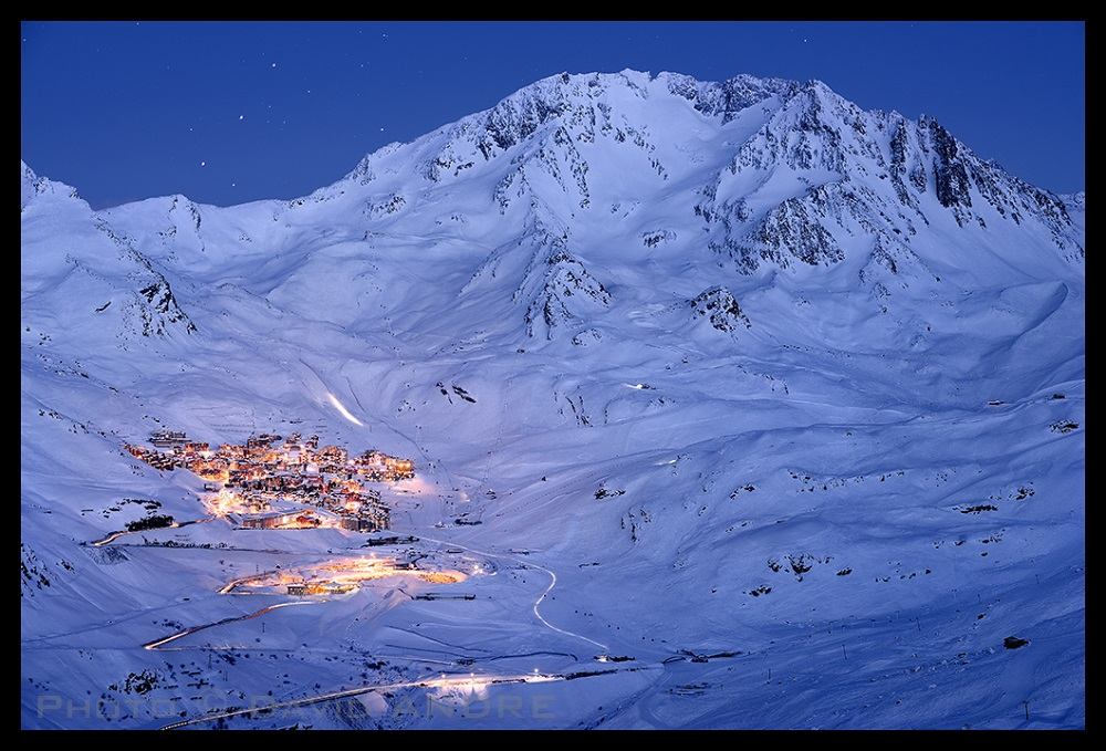 Val Thorens skidorp les trois vallées